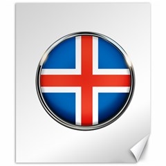Iceland Flag Europe National Canvas 8  X 10