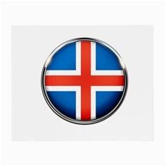 Iceland Flag Europe National Small Glasses Cloth (2 Side) by Nexatart
