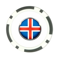 Iceland Flag Europe National Poker Chip Card Guard (10 Pack)