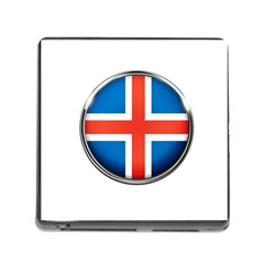 Iceland Flag Europe National Memory Card Reader (square)