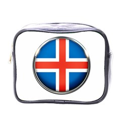 Iceland Flag Europe National Mini Toiletries Bags