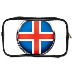Iceland Flag Europe National Toiletries Bags 2 Side by Nexatart