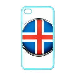 Iceland Flag Europe National Apple Iphone 4 Case (color)