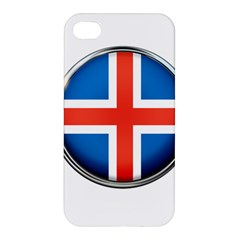 Iceland Flag Europe National Apple Iphone 4/4s Hardshell Case