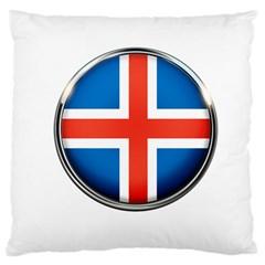 Iceland Flag Europe National Large Cushion Case (two Sides)