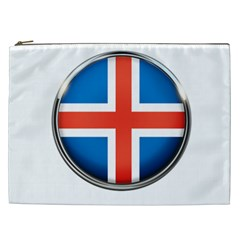 Iceland Flag Europe National Cosmetic Bag (xxl)