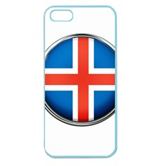 Iceland Flag Europe National Apple Seamless Iphone 5 Case (color)