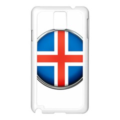 Iceland Flag Europe National Samsung Galaxy Note 3 N9005 Case (white)