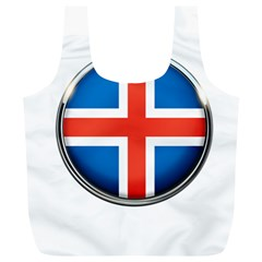 Iceland Flag Europe National Full Print Recycle Bags (l)