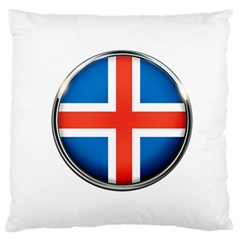 Iceland Flag Europe National Standard Flano Cushion Case (one Side) by Nexatart