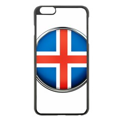 Iceland Flag Europe National Apple Iphone 6 Plus/6s Plus Black Enamel Case