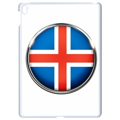 Iceland Flag Europe National Apple Ipad Pro 9 7   White Seamless Case