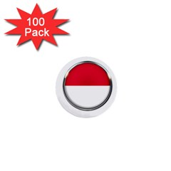 Monaco Or Indonesia Country Nation Nationality 1  Mini Buttons (100 Pack)