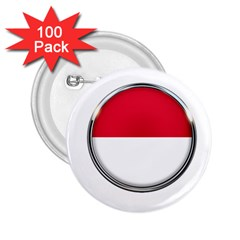 Monaco Or Indonesia Country Nation Nationality 2 25  Buttons (100 Pack)
