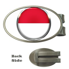 Monaco Or Indonesia Country Nation Nationality Money Clips (oval)
