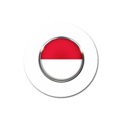 Monaco Or Indonesia Country Nation Nationality Magnet 3  (round)