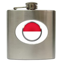 Monaco Or Indonesia Country Nation Nationality Hip Flask (6 Oz)