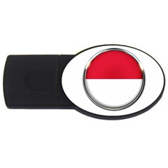 Monaco Or Indonesia Country Nation Nationality Usb Flash Drive Oval (2 Gb)