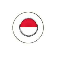 Monaco Or Indonesia Country Nation Nationality Hat Clip Ball Marker