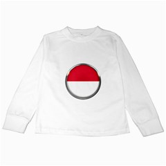 Monaco Or Indonesia Country Nation Nationality Kids Long Sleeve T Shirts