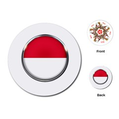 Monaco Or Indonesia Country Nation Nationality Playing Cards (round)