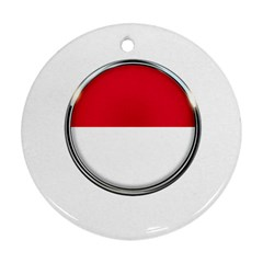 Monaco Or Indonesia Country Nation Nationality Round Ornament (two Sides)