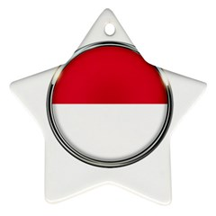 Monaco Or Indonesia Country Nation Nationality Star Ornament (two Sides)