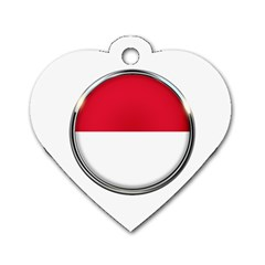 Monaco Or Indonesia Country Nation Nationality Dog Tag Heart (two Sides)