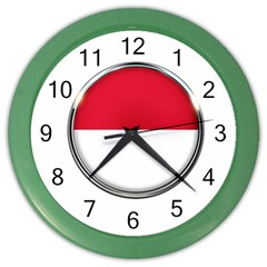 Monaco Or Indonesia Country Nation Nationality Color Wall Clocks