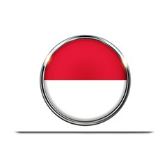 Monaco Or Indonesia Country Nation Nationality Plate Mats