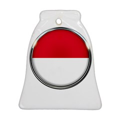 Monaco Or Indonesia Country Nation Nationality Bell Ornament (two Sides)