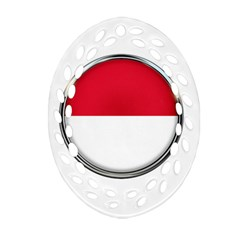 Monaco Or Indonesia Country Nation Nationality Ornament (oval Filigree)