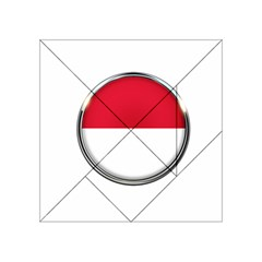 Monaco Or Indonesia Country Nation Nationality Acrylic Tangram Puzzle (4  X 4 ) by Nexatart