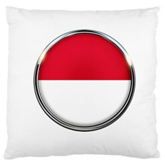 Monaco Or Indonesia Country Nation Nationality Large Cushion Case (one Side)