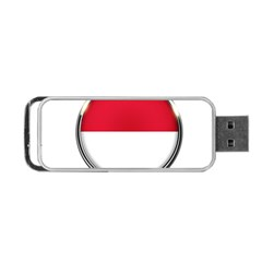 Monaco Or Indonesia Country Nation Nationality Portable Usb Flash (two Sides)