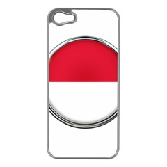 Monaco Or Indonesia Country Nation Nationality Apple Iphone 5 Case (silver) by Nexatart
