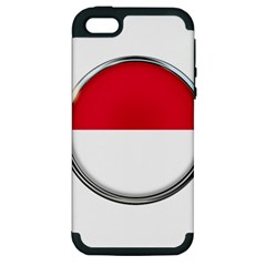 Monaco Or Indonesia Country Nation Nationality Apple Iphone 5 Hardshell Case (pc+silicone)