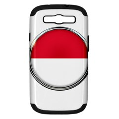 Monaco Or Indonesia Country Nation Nationality Samsung Galaxy S Iii Hardshell Case (pc+silicone)