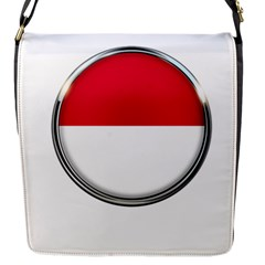 Monaco Or Indonesia Country Nation Nationality Flap Messenger Bag (s)