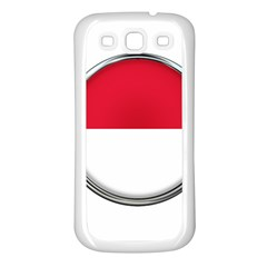 Monaco Or Indonesia Country Nation Nationality Samsung Galaxy S3 Back Case (white)