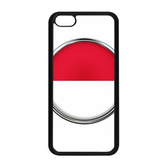 Monaco Or Indonesia Country Nation Nationality Apple Iphone 5c Seamless Case (black) by Nexatart