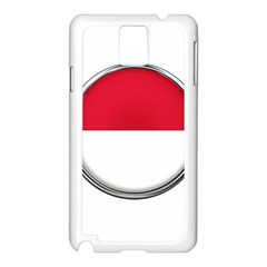 Monaco Or Indonesia Country Nation Nationality Samsung Galaxy Note 3 N9005 Case (white)