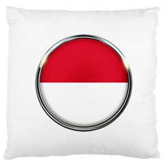 Monaco Or Indonesia Country Nation Nationality Large Flano Cushion Case (one Side)