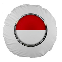 Monaco Or Indonesia Country Nation Nationality Large 18  Premium Flano Round Cushions