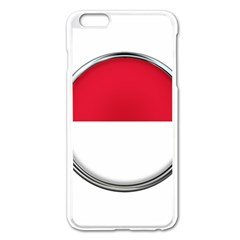 Monaco Or Indonesia Country Nation Nationality Apple Iphone 6 Plus/6s Plus Enamel White Case by Nexatart