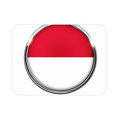 Monaco Or Indonesia Country Nation Nationality Double Sided Flano Blanket (mini)