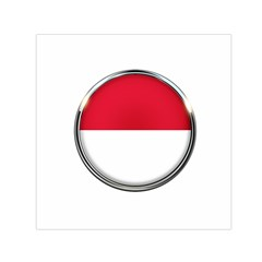 Monaco Or Indonesia Country Nation Nationality Small Satin Scarf (square)