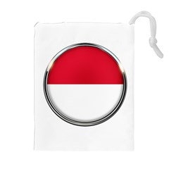 Monaco Or Indonesia Country Nation Nationality Drawstring Pouches (extra Large)