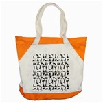 Yoga pattern Accent Tote Bag Front