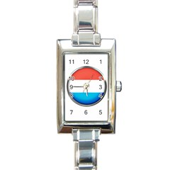 Luxembourg Nation Country Red Rectangle Italian Charm Watch